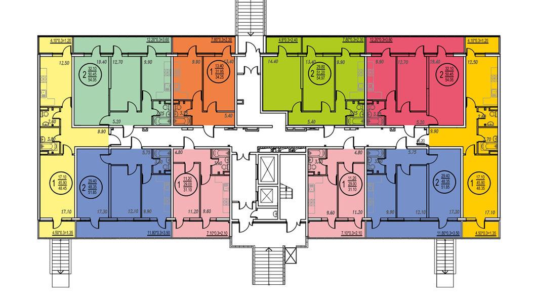 Планировка ЖК Оникс - Подъезд 3 - Этаж 1